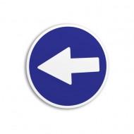Indicator autocolant obligatoriu stanga