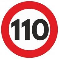 Indicator limitare viteza autocolant 110 km/ora Ø12