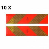 Pachet 10 seturi placute reflectorizante cap tractor