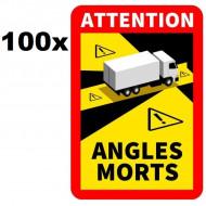 """PACHET 100 Autocolant Reflectorizante """"Angles morts"""""""