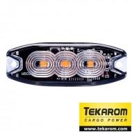 STROBOSCOP SLIM 3 led-uri lumina portocalie