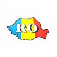 Autocolant RO Romania harta