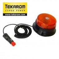 Girofar auto cu efect de rotatie sau stroboscopic 12V/24V orange cu 12 LED-uri de 3W
