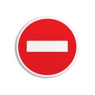 Indicator autocolant accesul interzis