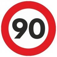 Indicator limitare viteza autocolant 90 km/ora Ø12