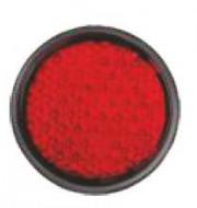 Catadioptru reflectorizant rotund rosu