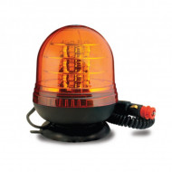 Girofar auto 12V/24V orange cu 18 LED-uri de 3W