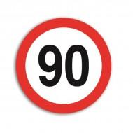 Indicator limitare viteza autocolant 90 km/ora