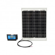 Panou solar 20W 450x340x20mm cu regulator de incarcare 12/24V 10Ah