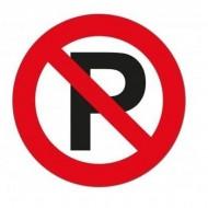Sticker semnalizare NU PARCATI