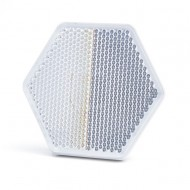 Catadioptru reflectorizant hexagonal alb