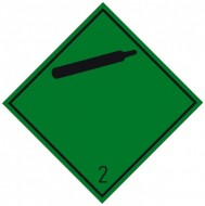 "Eticheta ADR autocolanta ""Pericol Transport gaze neinflamabile netoxice clasa 2.2n"""