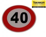Indicator limitare viteza autocolant 40 km/ora