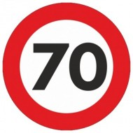 Indicator limitare viteza autocolant 70 km/ora Ø12