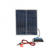 Panou solar 20W, 425x340x18mm cu regulator de incarcare 12/24V 10Ah