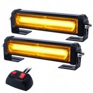 Rampa avertizare luminoasa 2 x 1 Led COB 12V