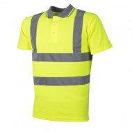 Tricou polo reflectorizant XL