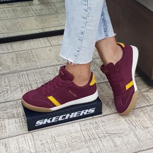 Pantofi dama Skechers 966 BURG