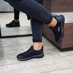 Pantofi casual Skechers 77222EC BKRG