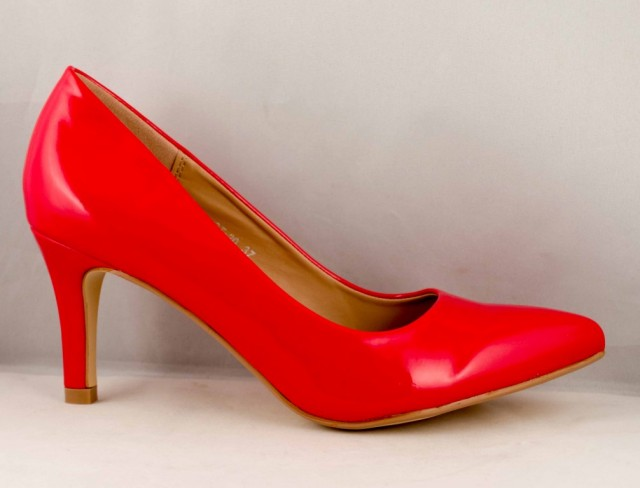 Pantofi Stiletto red Toc 7 cm