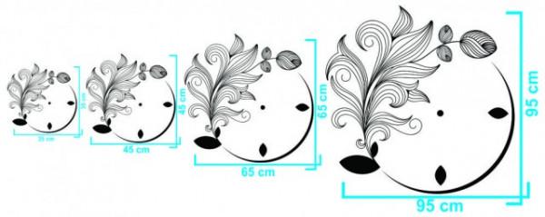 Ceas decorativ Ghirlande Flori