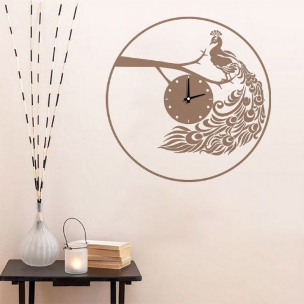 Ceas decorativ Paun pe Creanga