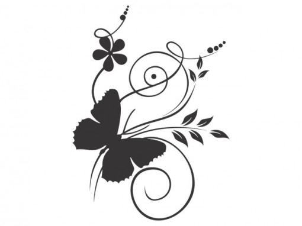 Fluture pe Flori