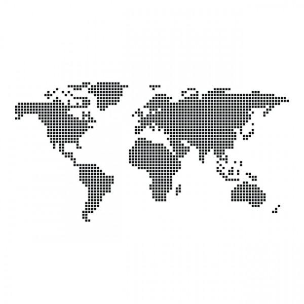 Harta lumii din patratele