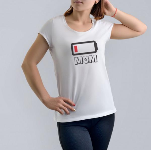 Imprimeu tricou MOM - LOW BATTERY
