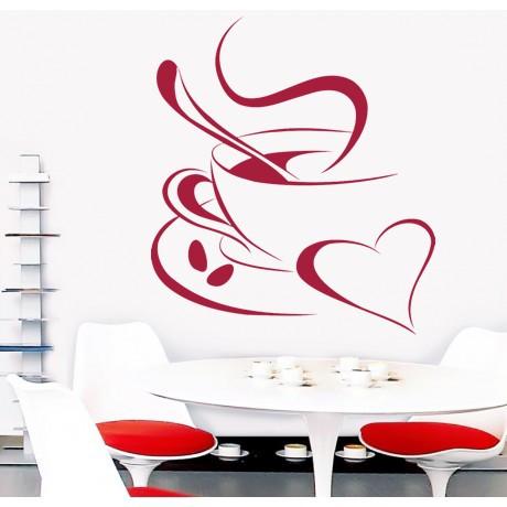Sticker De Perete Cafea Din Inima