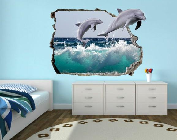 Sticker De Perete Delfini 3d