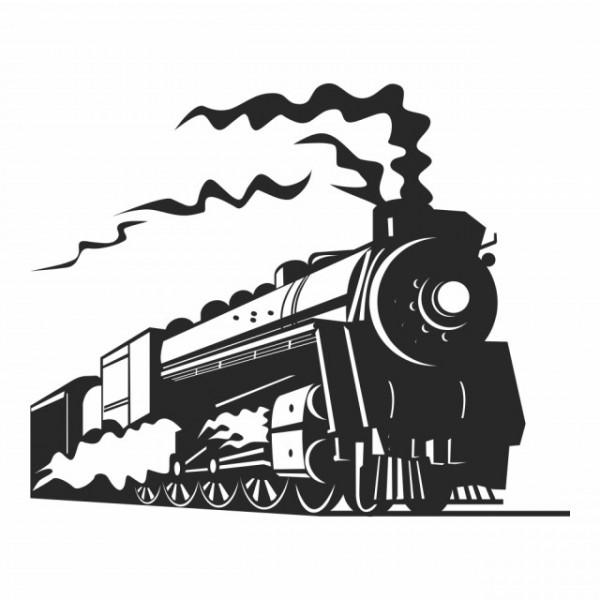 Sticker Steam Train Transport Trains