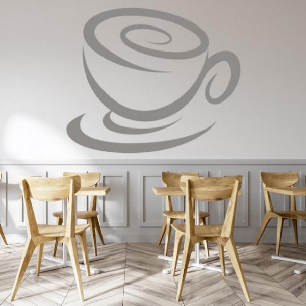 Sticker Swirl Coffee Cup Food Drink