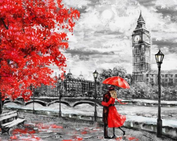 Tablou Canvas Efect Pictura Zi Ploioasa La Londra