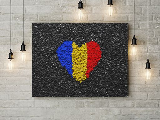 Tablou Canvas Inima tricolora