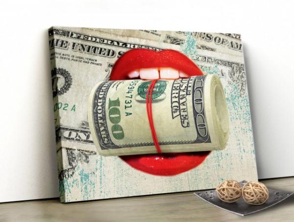 Tablou Canvas - Money Kiss