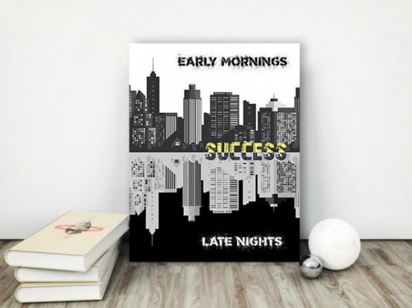Tablou canvas motivational - Contrasts