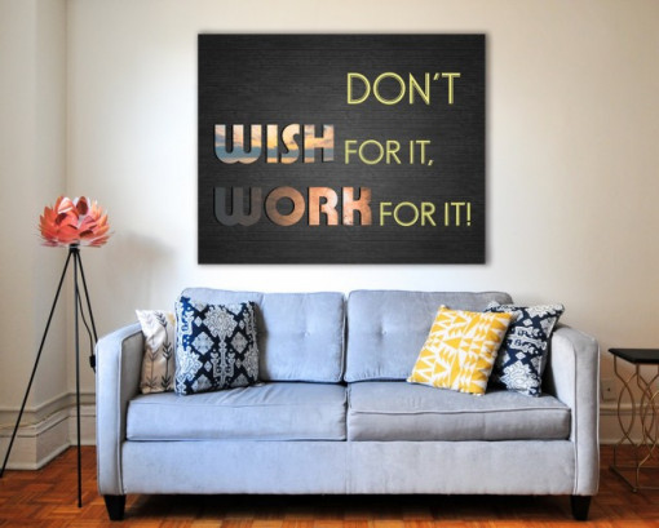 Tablou canvas motivational - Work for It!