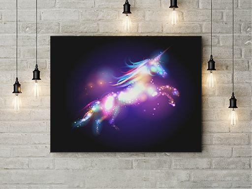 Tablou Canvas Unicorn de lumina