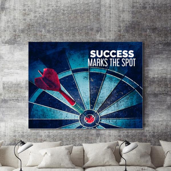 Tablou motivational - Success marks the spot