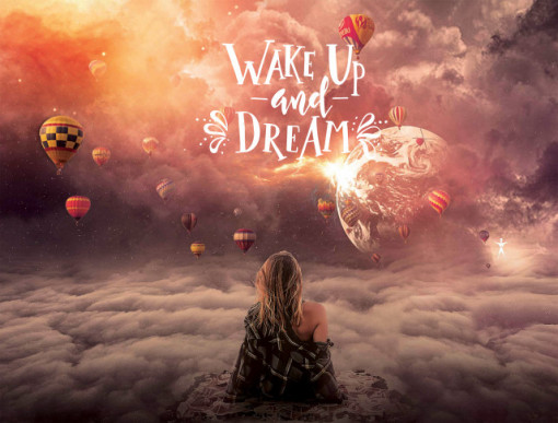 Tablou motivational - Wake up and dream