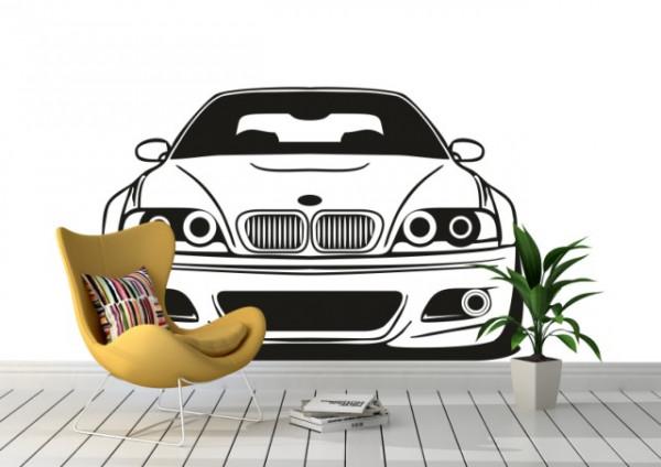 Auto BMW sticker vedere frontala