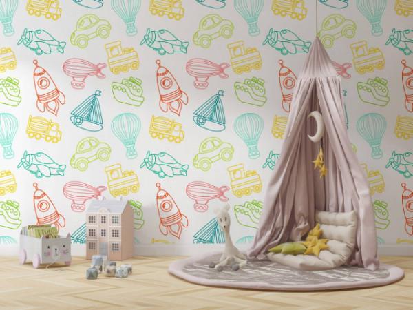 Foto tapet Camera copiilor jucarii desenate