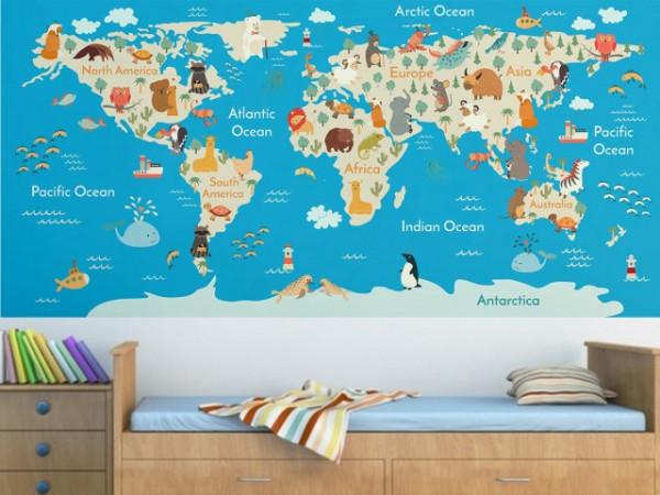 Harta Lumii Camera Copiilor