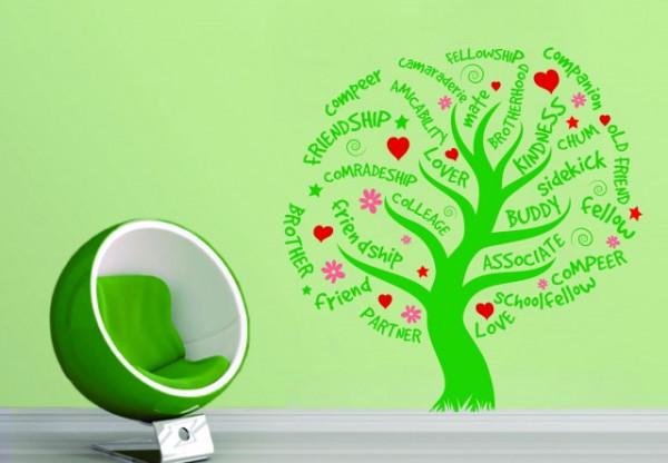 Sticker De Perete Copacul Prieteniei