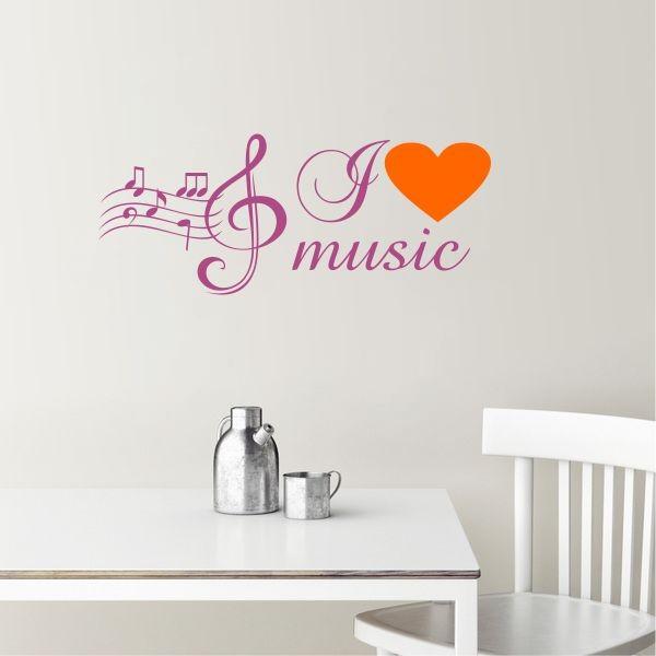 Sticker De Perete I Love Music
