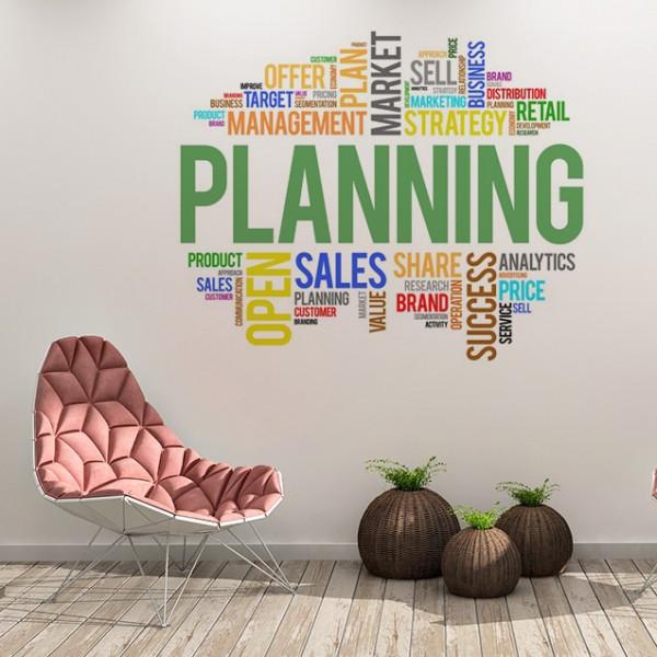 Sticker De Perete Planning Colorat 2
