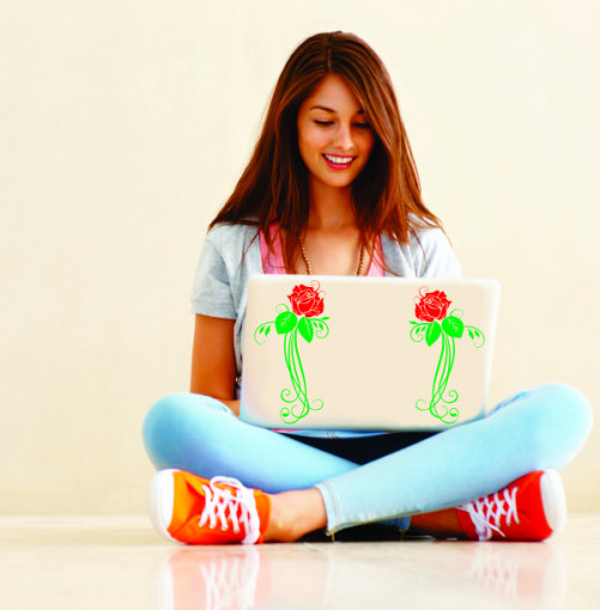 Sticker laptop - trandafir 01