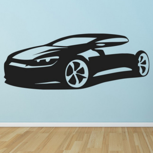 Sticker Sports Car