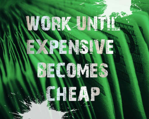 Tablou canvas motivational - Expensive becomes Cheap